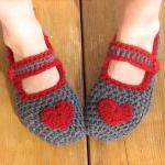 Mary Jane Slippers Crochet Pattern ..