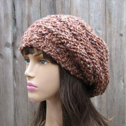 PATTERN!!! Knit Hat - Slouchy Hat, ..