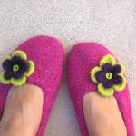 Adult Felted Slippers Crochet Patte..