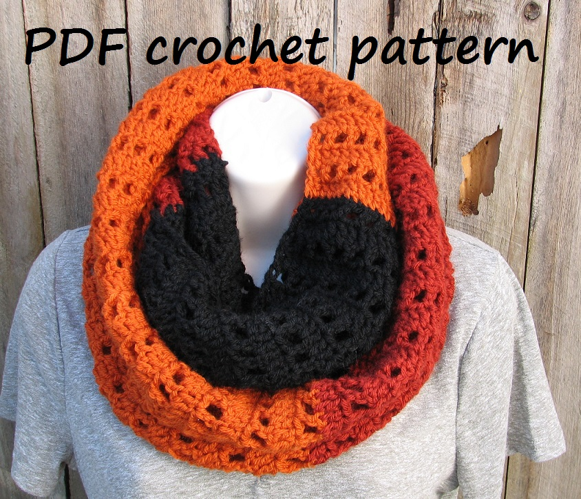 Crochet Scarf Neck Warmer Pdf Pattern Easy Great For Beginners