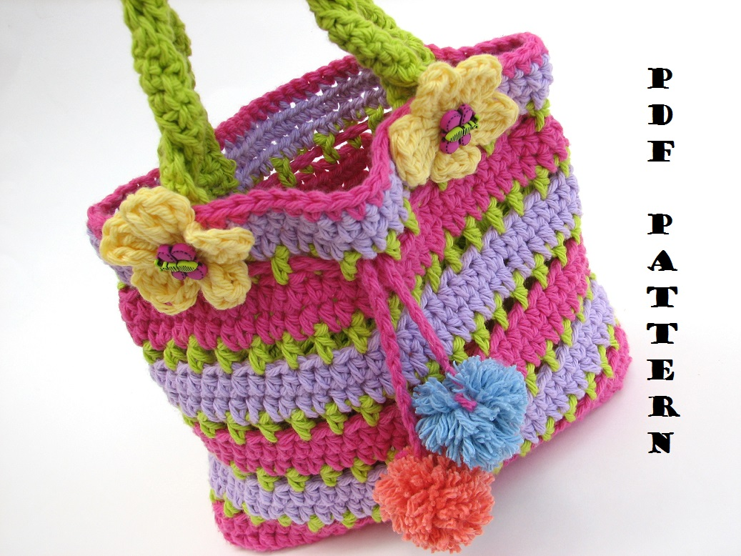 Colorful girls bag purse crochet pattern pdfeasy great for colorful girls bag purse crochet pattern pdfeasy great for beginners pattern no 57 bankloansurffo Choice Image