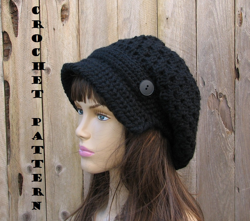 CROCHET PATTERN!!! Crochet Hat - Newsboy Hat, Crochet Pattern PDF,Easy, Great for Beginners, Pattern No. 37