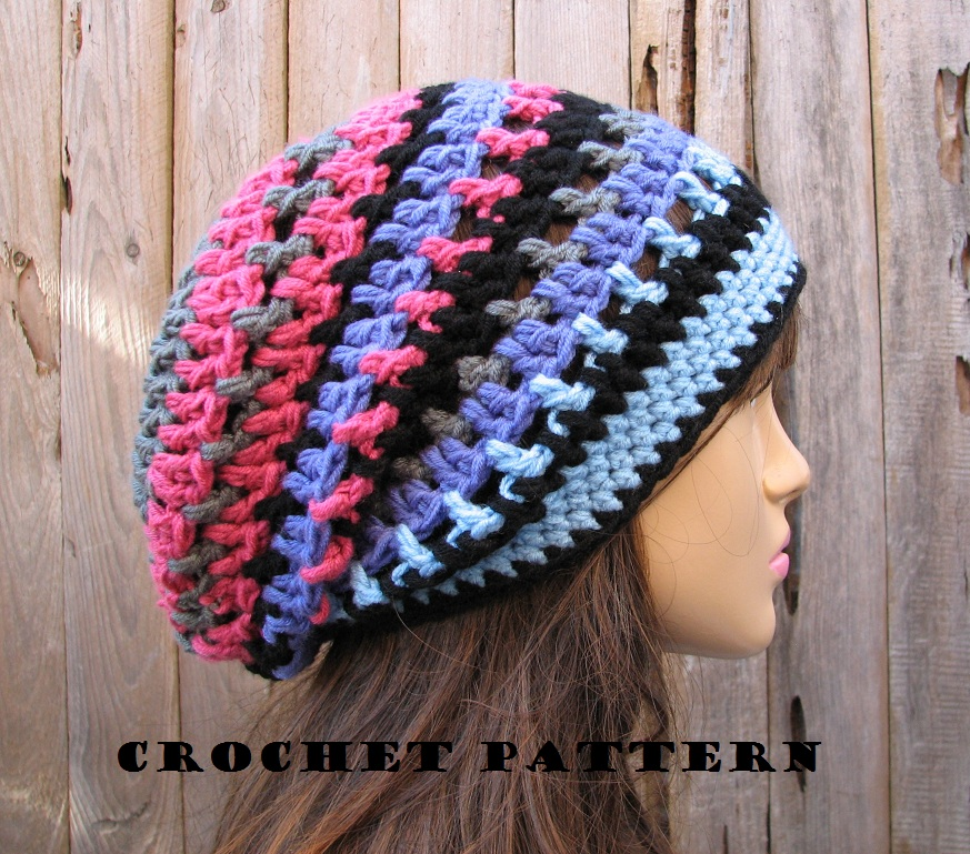 Crochet Hat Slouchy Hat Crochet Pattern Pdfeasy Great For