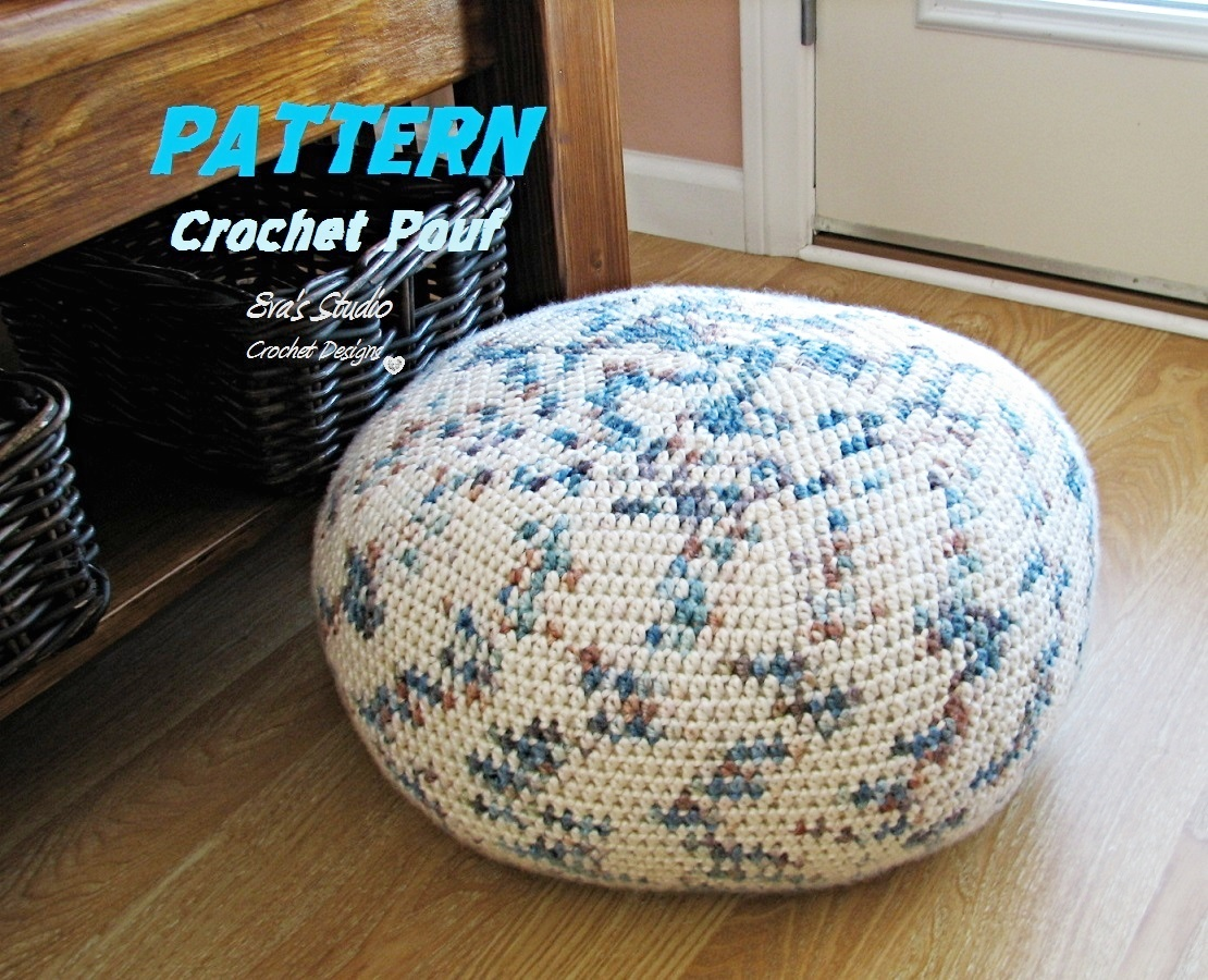 Pattern Crochet Pouf Pdf Floor Cushion Patterns Crochet Pattern ...