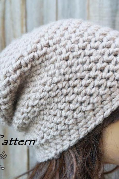 Crochet Hat - Slouchy Hat, Crochet Pattern PDF,Easy, Great For Beginners, Pattern No. 88