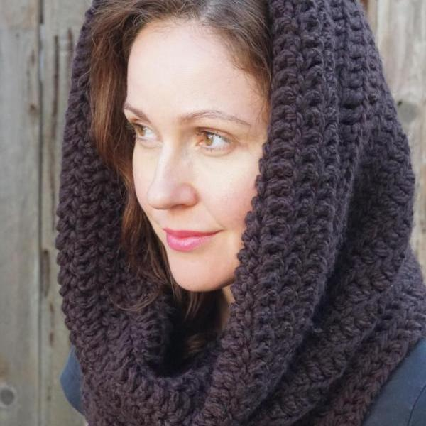 Crochet Infinity Scarf, Cowl/Hood, Neck-warmer pattern no.81