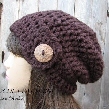 CROCHET PATTERN!!! Crochet Hat - Slouchy Hat, Crochet Pattern PDF,Easy, Great for Beginners, Pattern No. 74