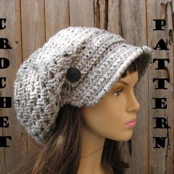 Crochet hat slouchy hat crochet pattern pdfeasy great for crochet hat newsboy hat hat crochet pattern pdf dt1010fo